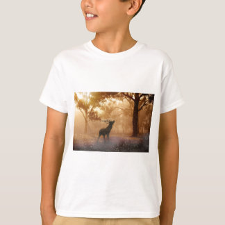 Stag in Mystical Forest T-Shirt