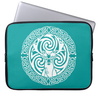 Stag in Snow Laptop Computer Sleeves