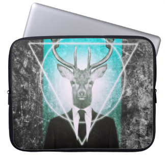 Stag in suit laptop sleeve