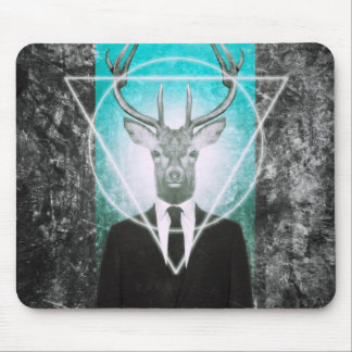 Stag in suit mousepads