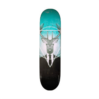 Stag in suit skate board deck