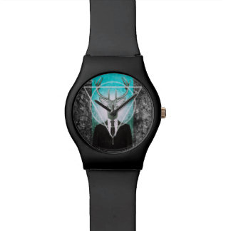 Stag in suit wrist watch