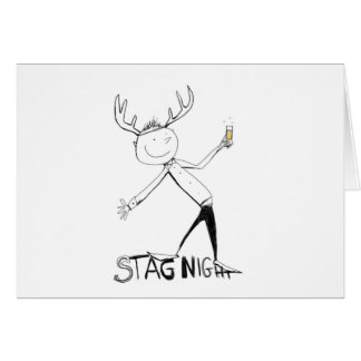 STAG NIGHT CARD