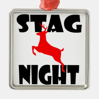 stag night christmas tree ornaments