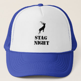 """Stag Night""hats. Stag design Trucker Hat"