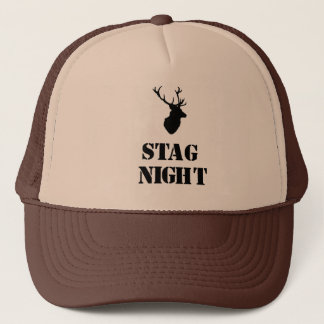 """""""Stag Night"""" hats Stag head design"""