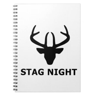 Stag Night Spiral Notebook