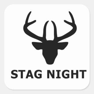 Stag Night Square Sticker