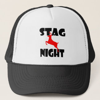 stag night trucker hat