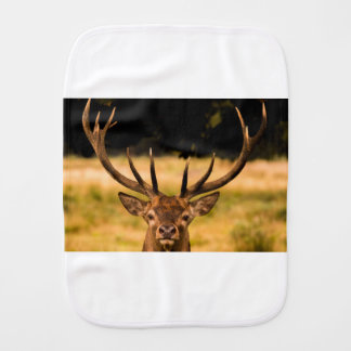stag of richmond park burp cloth