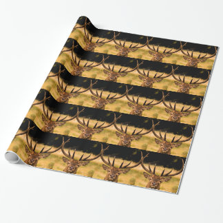 stag of richmond park wrapping paper