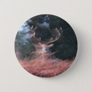 Stag on a hill 6 cm round badge