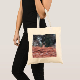Stag on a hill tote bag