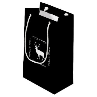 Stag Party - Elegant Drawing of a Stag Small Gift Bag