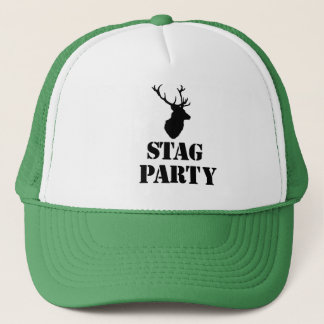 """Stag Party"" hats. Stag head design Trucker Hat"