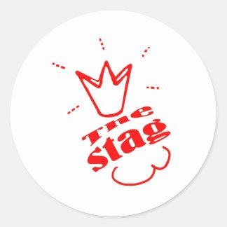 Stag Round Sticker