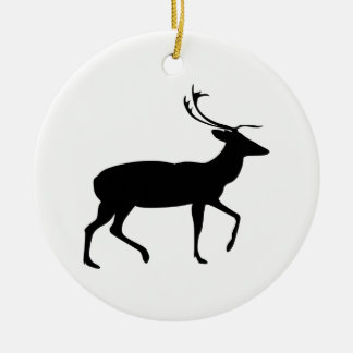 Stag Silhouette Christmas Ornament