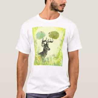 Stag with Coral Antlers T-Shirt