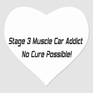 Stage 3 Muscle Car Addict Stickers