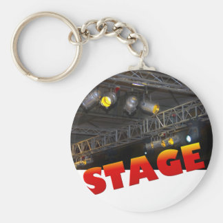 stage basic round button key ring