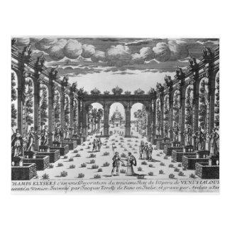 Stage by Giacomo Torelli  for 'Venere Gelosa' Postcard