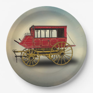 STAGE COACH 9 INCH PAPER PLATE