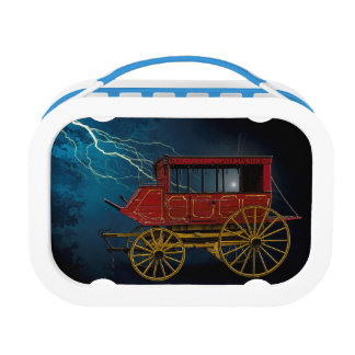 STAGE COACH IN LIGHTNING STORM LUNCHBOXES