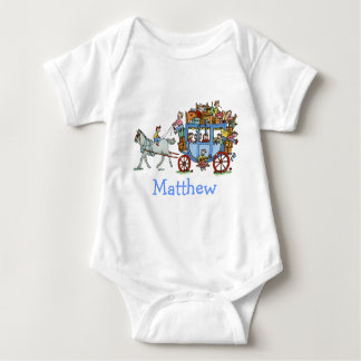 Stage Coach with Kids Baby Shirt