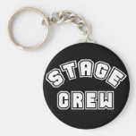 Stage Crew Basic Round Button Key Ring