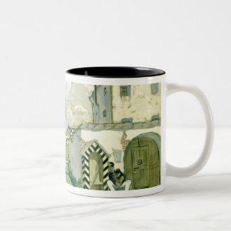 Stage design for Alexander Ostrovsky's play Two-Tone Coffee Mug