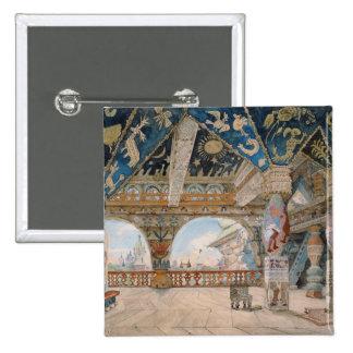 Stage design for Nikolai Rimsky-Korsakov's opera 15 Cm Square Badge
