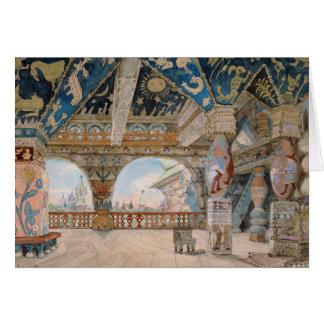 Stage design for Nikolai Rimsky-Korsakov's opera Card