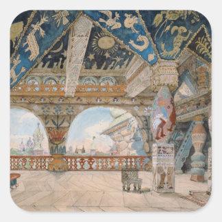 Stage design for Nikolai Rimsky-Korsakov's opera Square Sticker