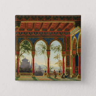 Stage design for the opera 'Ruslan and Lyudmila' 15 Cm Square Badge
