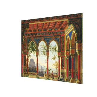 Stage design for the opera 'Ruslan and Lyudmila' Canvas Print