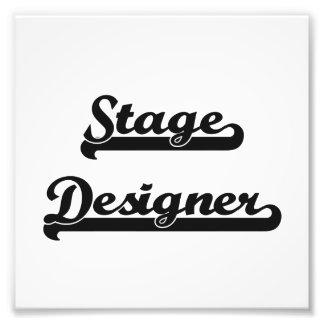 Stage Designer Classic Job Design Art Photo