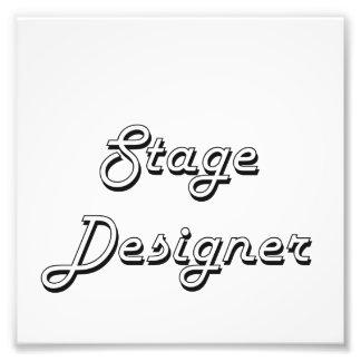 Stage Designer Classic Job Design Photo Print
