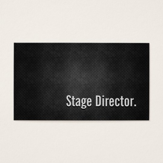 Stage Director Cool Black Metal Simplicity Business Card