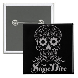 Stage Dive - Candy Skull Black 15 Cm Square Badge