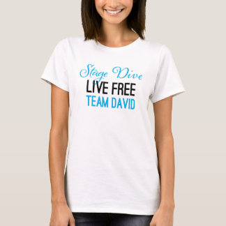Stage Dive - Live Free shirt in blue