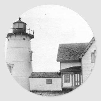 Stage Harbor Lighthouse Round Sticker