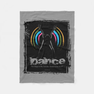 Stage Is My Canvas (Dance) Fleece Blanket