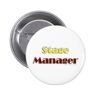 Stage Manager (Text Only) 6 Cm Round Badge