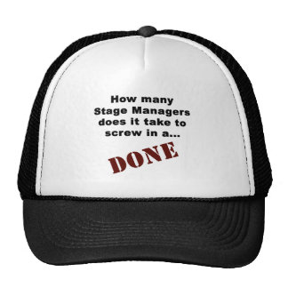 Stage Manager's Get Things DONE! Cap