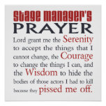 Stage Manager's Prayer