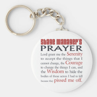 Stage Manager's Prayer Keychain