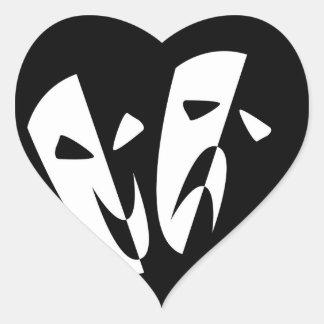 Stage Masks Heart Sticker