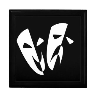 Stage Masks Large Square Gift Box
