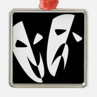 Stage Masks Silver-Colored Square Decoration