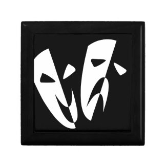 Stage Masks Small Square Gift Box